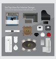 set top view for interior design vector image vector image