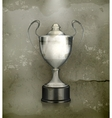 Silver Cup old-style vector image vector image