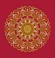 simple gold circular pattern on red background vector image vector image