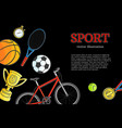 sketch sport symbol icon pattern poster vector image