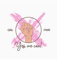t-shirt design for girl power concept vector image vector image