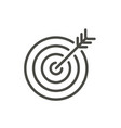 target icon line goal symbol vector image vector image