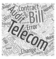 Telecom Contracts Is This Where The Money Is text vector image vector image