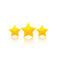 three golden stars vector image vector image
