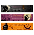 Three Halloween Banners copy vector image vector image