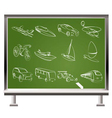 types of transport icons vector image vector image