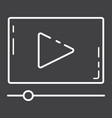 video marketing line icon seo and development vector image