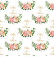 vintage wedding pattern vector image vector image