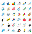 wall icons set isometric style vector image vector image