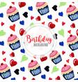 watercolor happy birthday background vector image