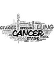 what are the stages of lung cancer text word vector image vector image