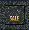winter sale typographic banner with snowflakes vector image vector image