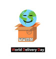 world delivery day vector image vector image