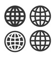 world globe icons set on white background vector image vector image