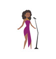 african american jazz singer beautiful woman in vector image
