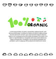 100 percent natural lettering with berries vector image