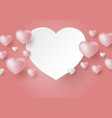 3d hearts on coral color background