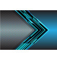 abstract blue arrow light digital metallic vector image vector image