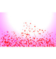 abstract heart valentine background vector image vector image