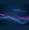 abstract wave background graphic line sonic or vector image vector image