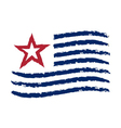 American wave flag Independence Day symbol