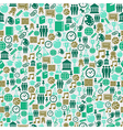 Back to School icons education seamless pattern vector image
