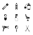 Barbershop icons set simple style vector image vector image