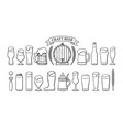beer objects set glasses different shape vector image vector image