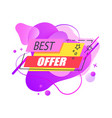 best offer sale liquid sticker or label vector image