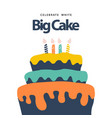 big cake template design vector image