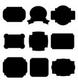 black labels badges vector image vector image
