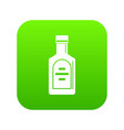 bottle of whiskey icon digital green vector image