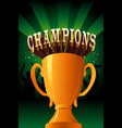 champions poster vector image vector image