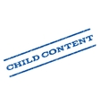 Child Content Watermark Stamp vector image vector image