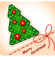 christmas card christmas tree vector image