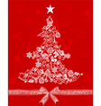 christmas tree3 vector image vector image