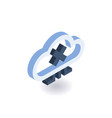 cloud technologies isometric icon vector image vector image
