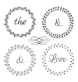 collection floral frames cute hand drawn vector image vector image