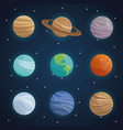 color space landscape background with planets of vector image vector image