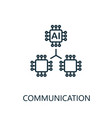 communication thin line icon creative simple vector image vector image