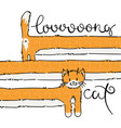 cutest long cat vector image