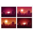 desert sunset landscape vector image