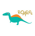 doodle of cute dinosaur vector image vector image