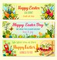 easter day and egg hunt celebration banner set vector image vector image