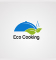 eco cooking logo icon element and template vector image