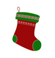 empty christmas stocking vector image vector image