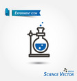 experiment icon scientific vector image