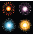 firework explosions vector image vector image