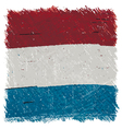 Flag of Luxembourg handmade square shape vector image vector image