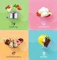 Food concept set vector image vector image